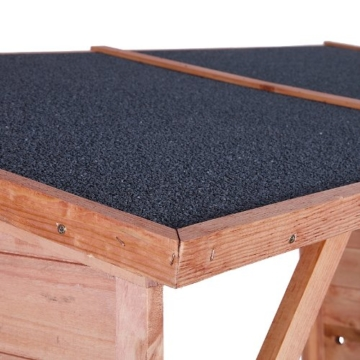 Detail Dach Kaminholzregal außen Brennholzregal Kaminholzunterstand