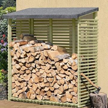 Kaminholzregal mit Rückwand außen ( 1,5 m³ )  – Gartenpirat - 1