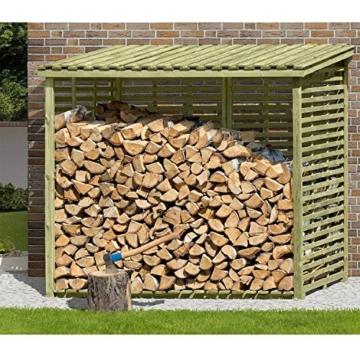 Kaminholzregal XXL Brennholzregal mit Rückwand für 4,5 m³ Holz von Gartenpirat® -